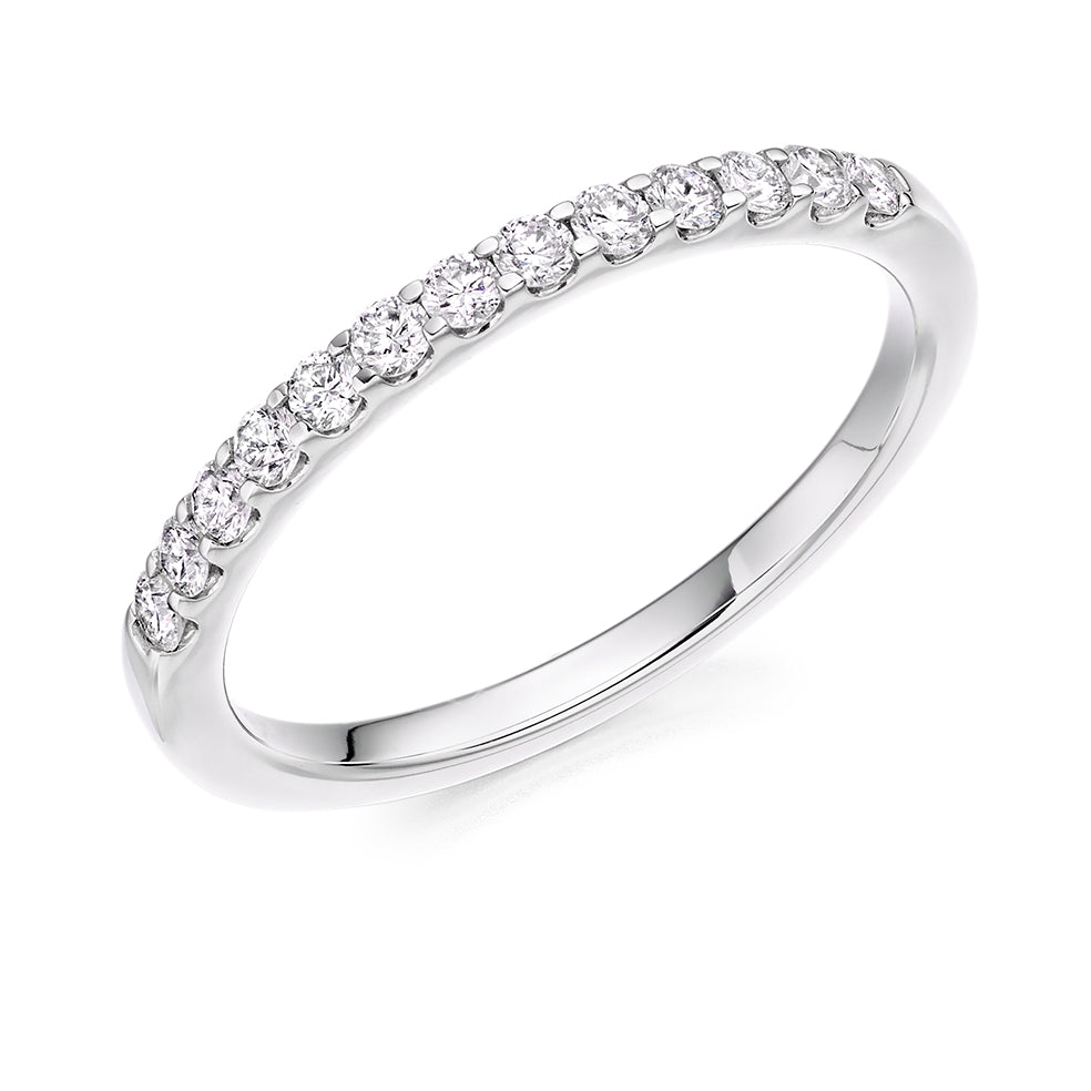 Platinum 0.30ct Round Brilliant Cut Diamond Eternity Ring