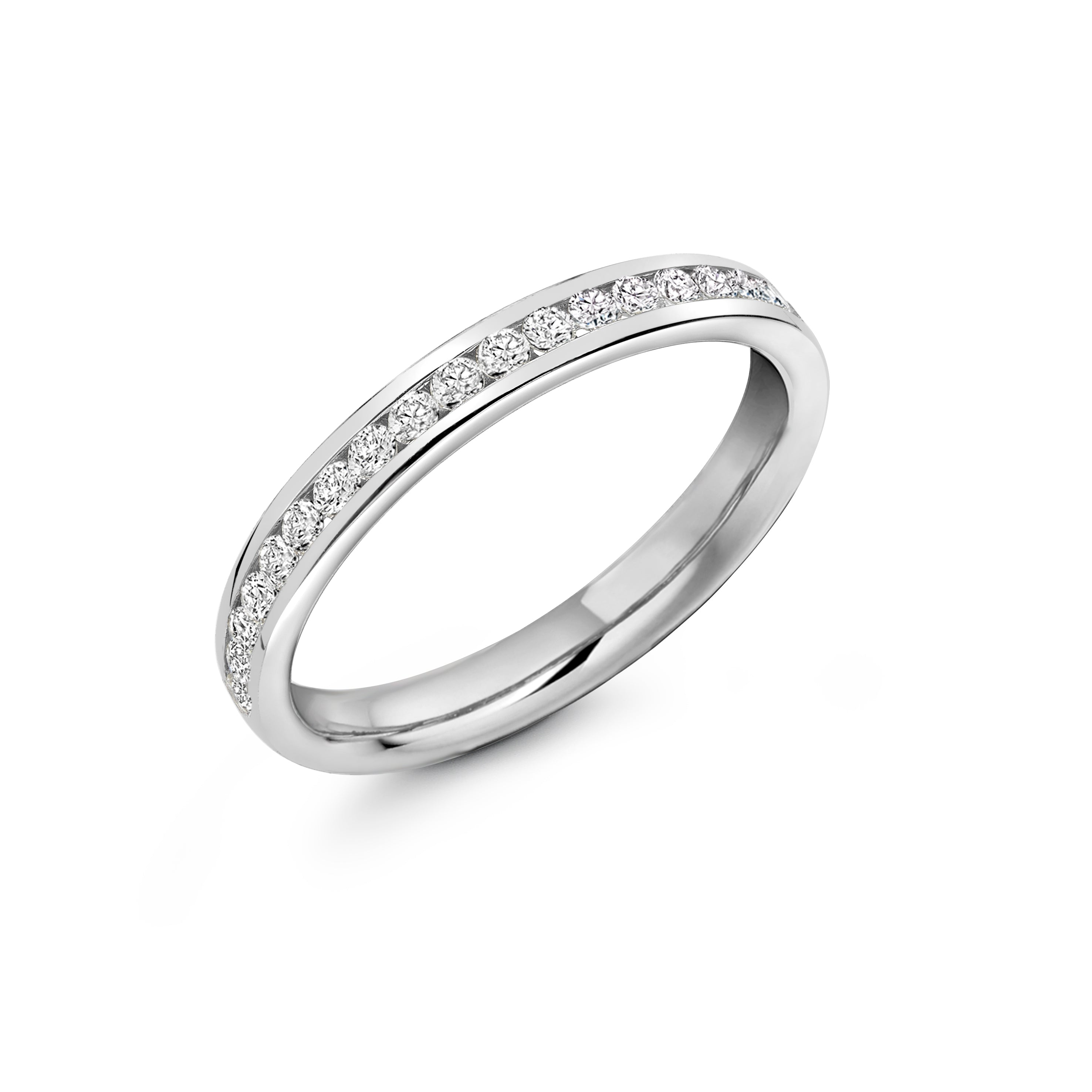 0.33ct Round Brilliant Cut Diamonds Channel Set Eternity Ring - (Home Try-On)