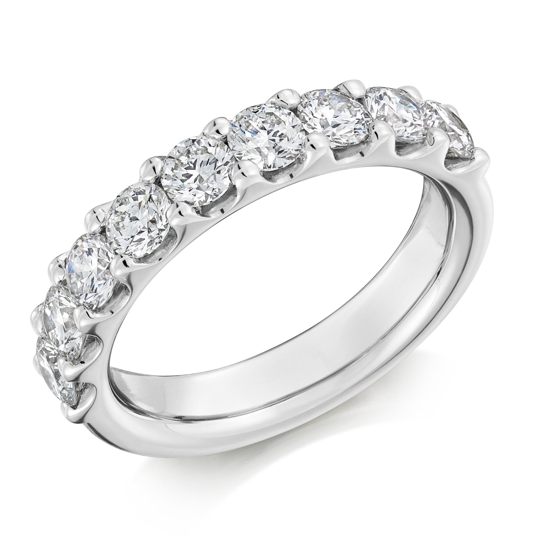 1.50ct Round Brilliant Cut Diamond Wedding Ring - (Home Try-On)