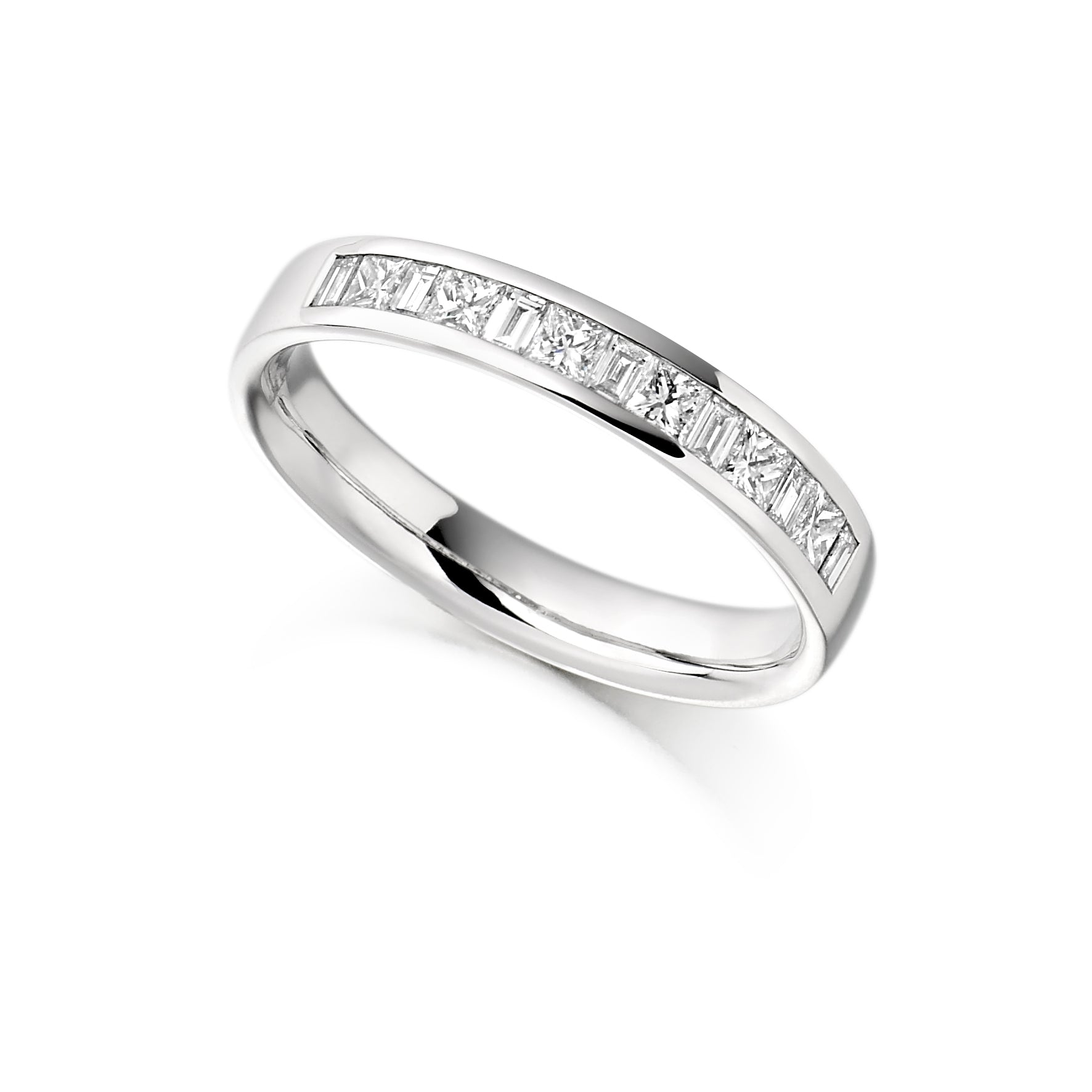 0.50ct Princess & Baguette Cut Eternity Ring - (Home Try-On)