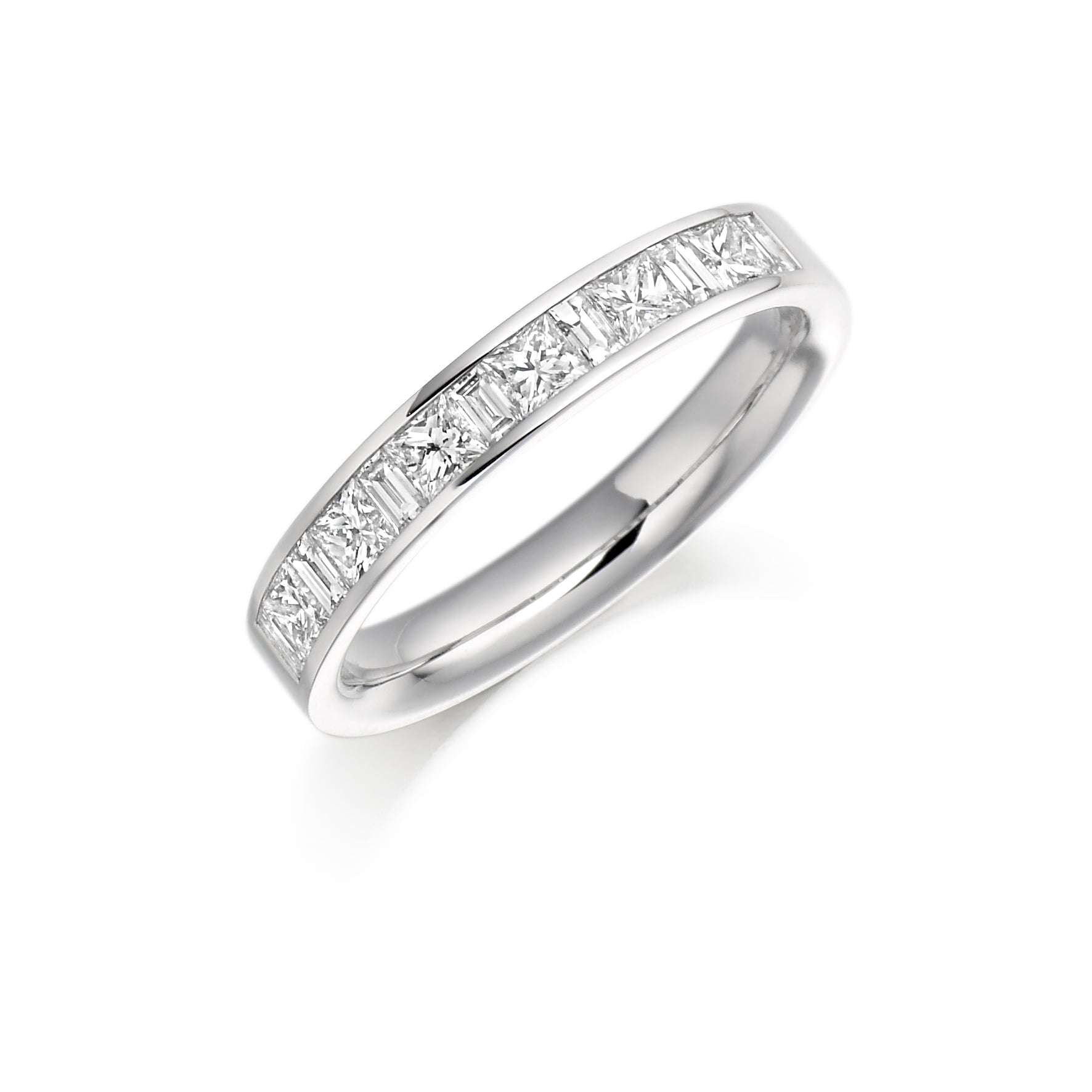 0.75ct Princess & Baguette Cut Eternity Ring - (Home Try-On)