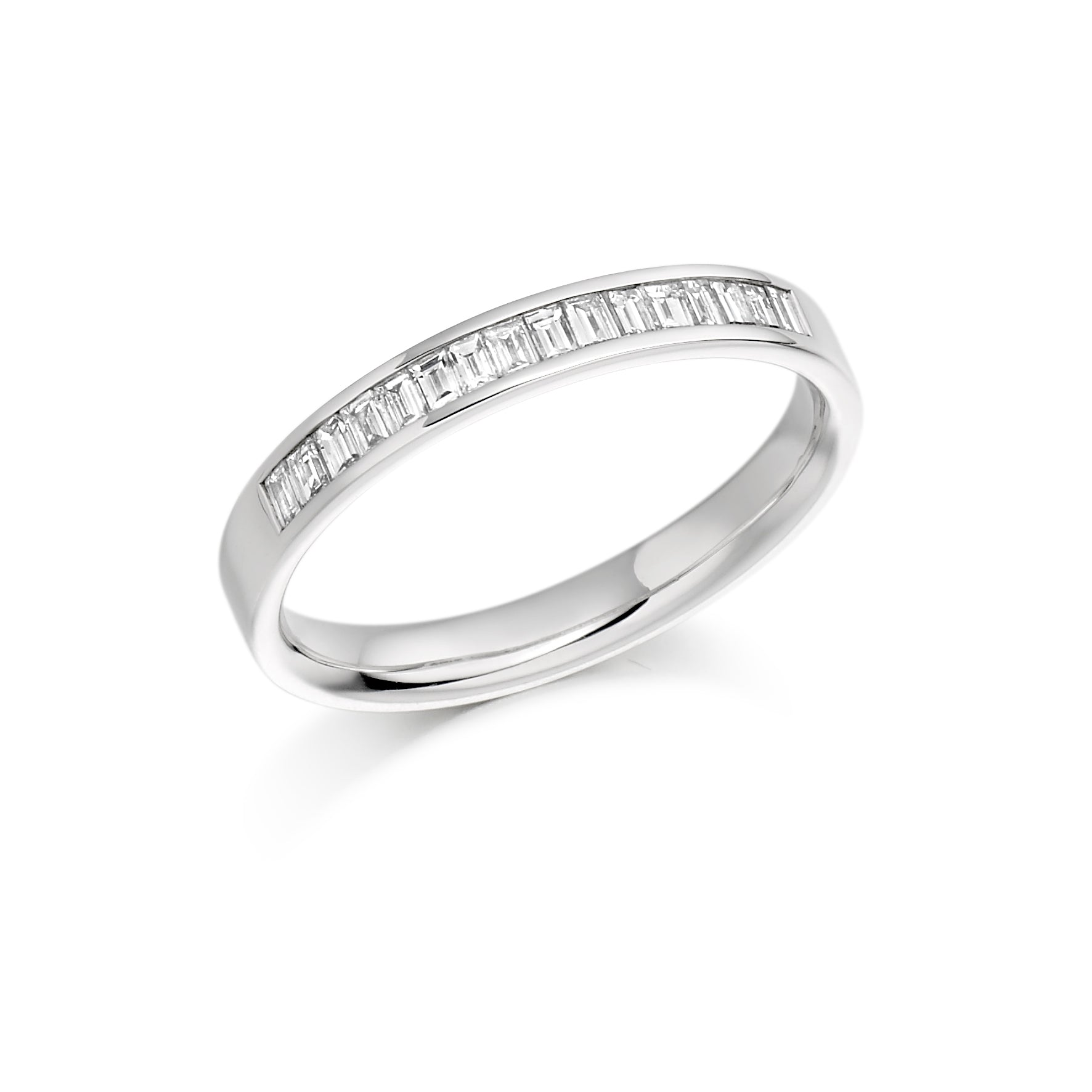 0.33ct Baguette Cut Diamond Channel Set Eternity Ring - (Home Try-On)