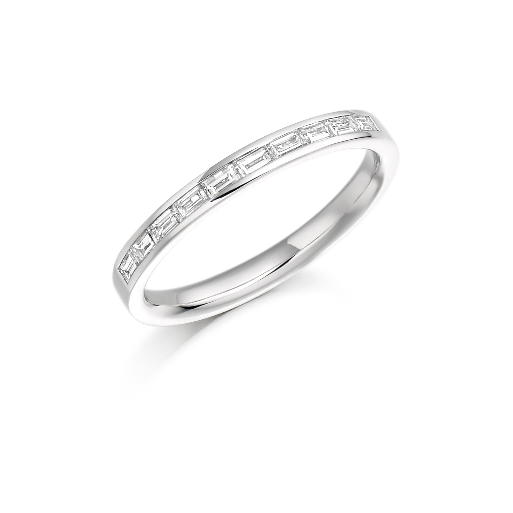 0.30ct Baguette Cut Diamond Channel Set Wedding Ring - (Home Try-On)