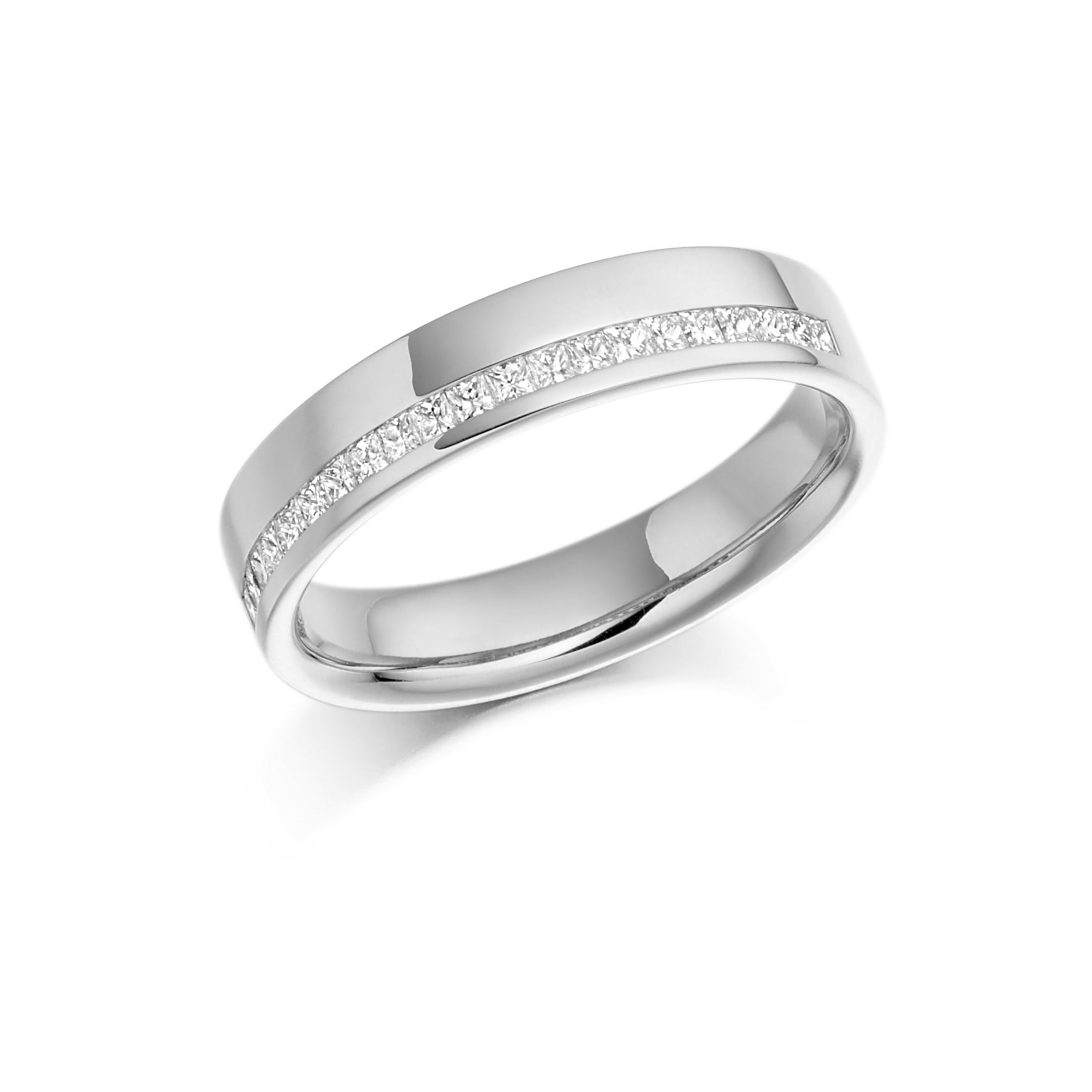 0.25ct Princess Cut Diamonds Channel Set Eternity Ring - (Home Try-On)