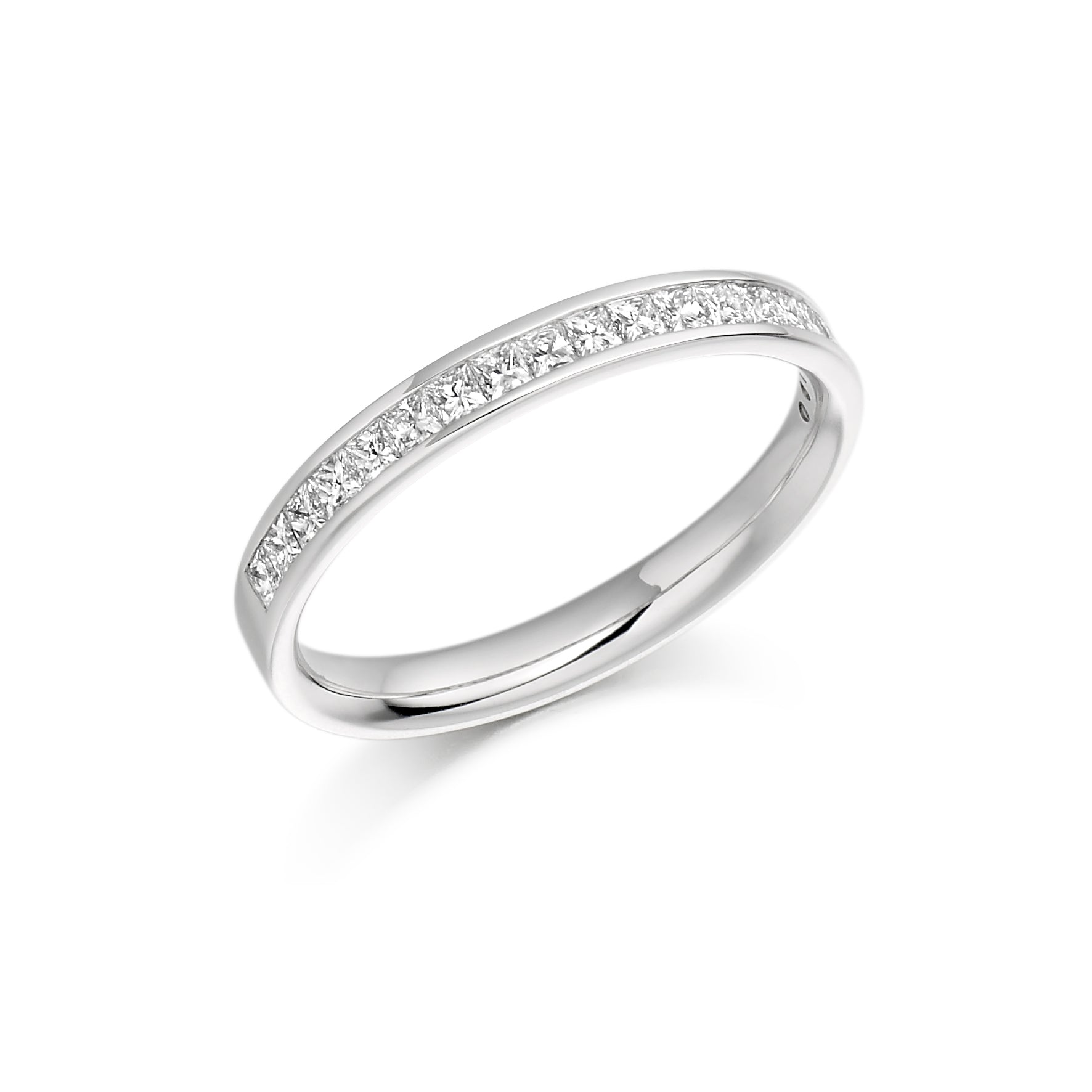 0.50ct Princess Cut Diamond Wedding Ring - (Home Try-On)