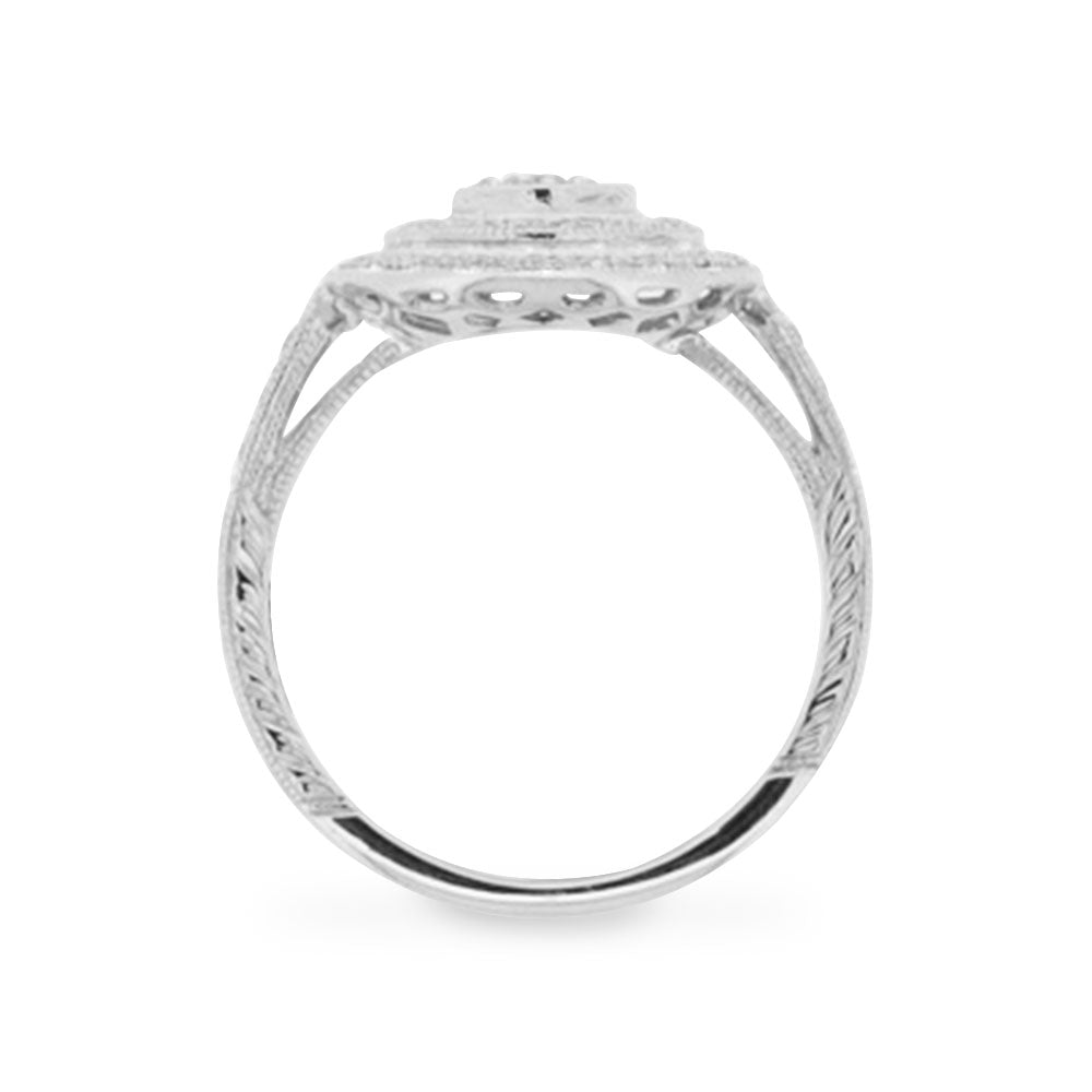 18ct White Gold Target Diamond Ring