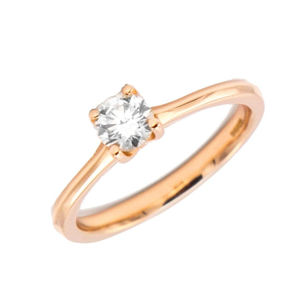 18ct Rose Gold 0.50ct Solitaire Round Brilliant Cut Diamond Engagement Ring