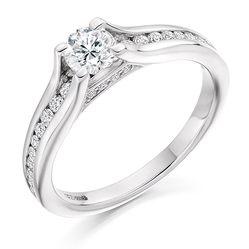 Solitaire Engagement Ring 0.33ct - Home Try-On