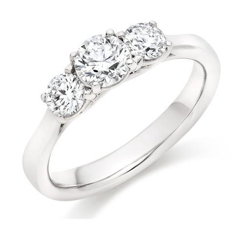 Three Stone Engagement Ring 1.00ct - Home Try-On (€4,850)
