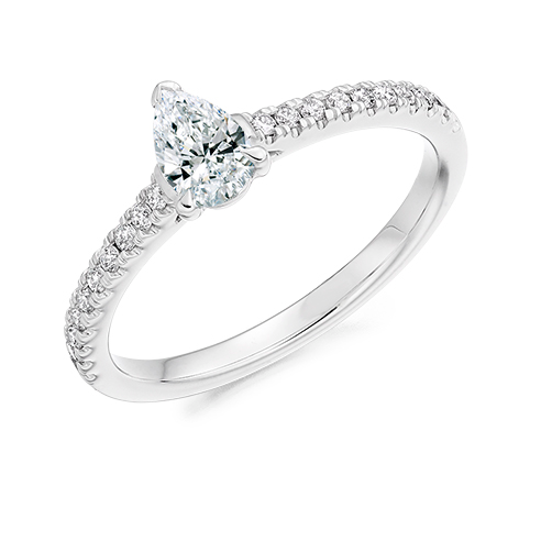 Pear Solitaire Engagement Ring 0.33ct - Home Try-On (€2,100)