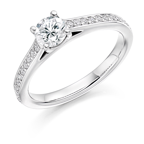 Solitaire Engagement Ring 0.50ct - Home Try-On