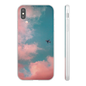 Aesthetic Pink Clouds and Airliner Phone Case - Marshall Clothing UK