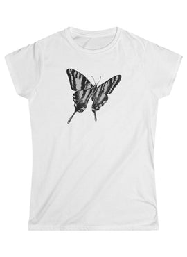 Vintage Butterfly Print Graphic Tee
