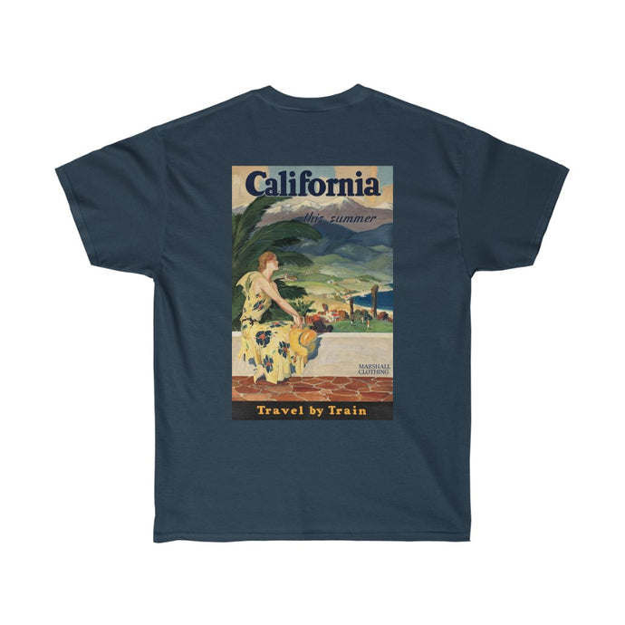 California 'Travel By Train' Graphic Tee