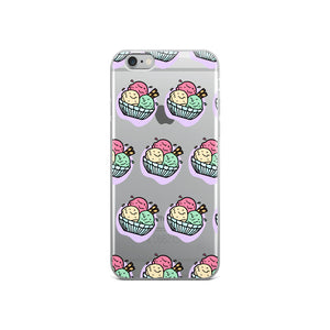 Kawaii Ice Cream Bowl iPhone Case