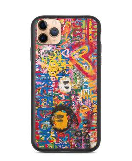 ECO Colour Bust Graffiti Wall iPhone Case