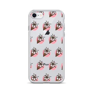 Kawaii Strawberry Sprinkle Cone iPhone Case