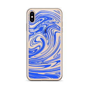 Blue Marble Swirl iPhone Case