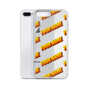 Custom Retro WordArt Orange iPhone Case