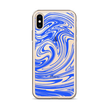 Load image into Gallery viewer, Blue Marble Swirl iPhone Case