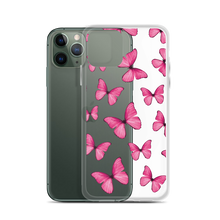 Load image into Gallery viewer, Pink Butterfly Collage iPhone Case