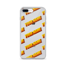 Load image into Gallery viewer, Custom Retro WordArt Orange iPhone Case