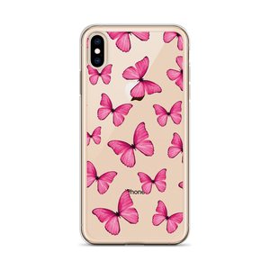 Pink Butterfly Collage iPhone Case