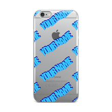 Load image into Gallery viewer, Custom 95' WordArt Blue iPhone Case
