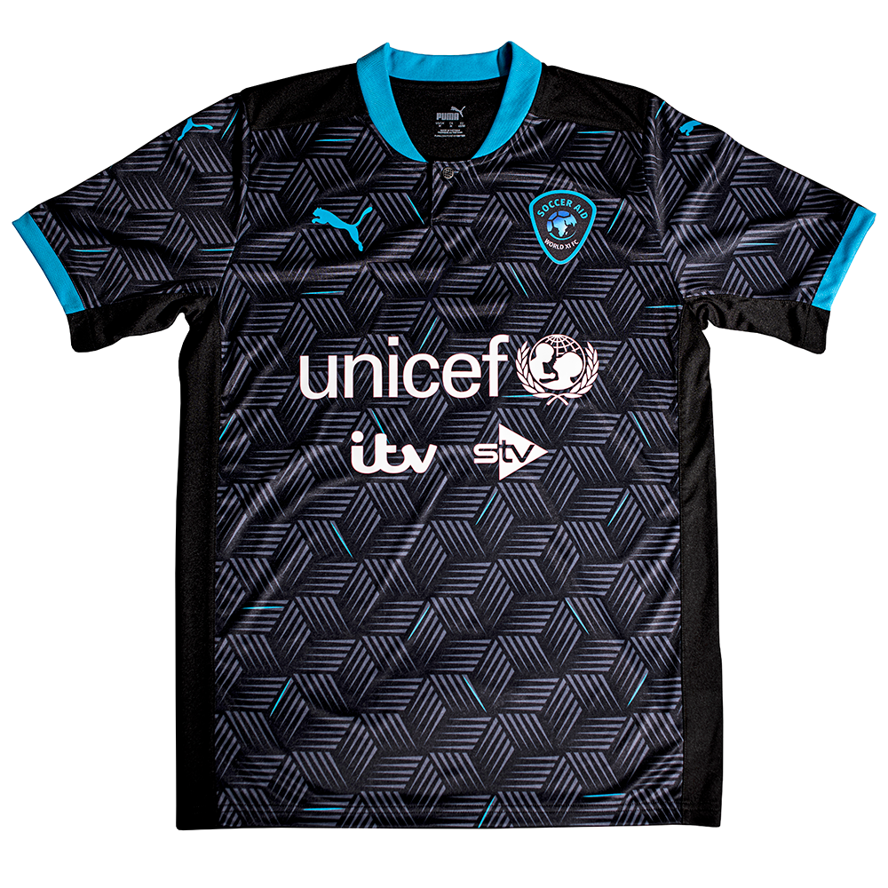 Soccer Aid World XI FC Replica Jersey (Black/Blue)