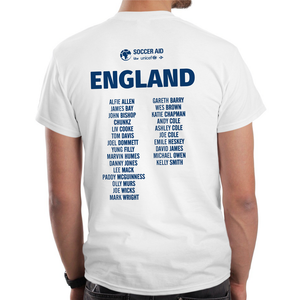 England Event T-Shirt with Player Listing (White)