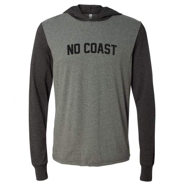 NO COAST LONG SLEEVE HOODED TEE