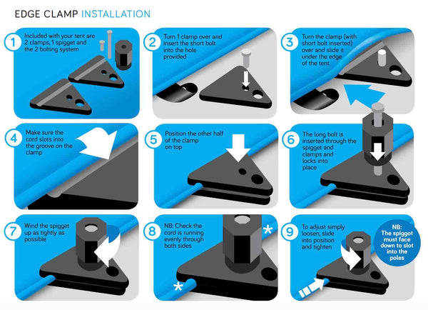 Stretch Tent Edge Clamp Instructions