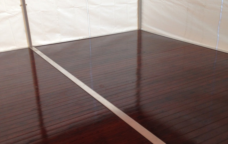 Steel Frame Integrated Wooden Flooring Au Stretch Tents