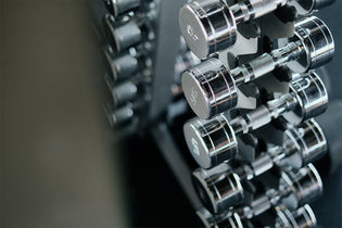 Dumbbells on rack - Manic Fitness