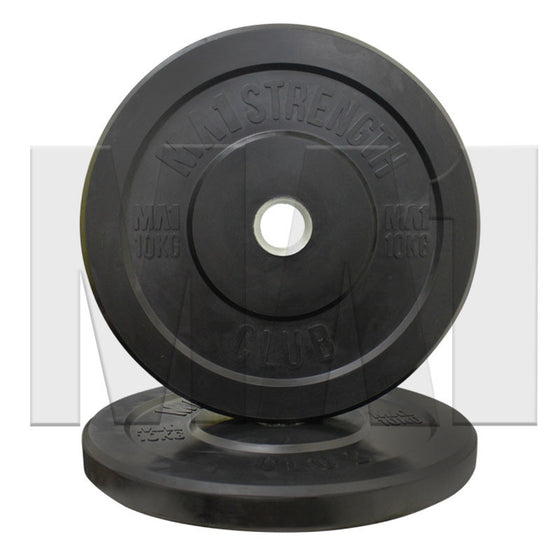 MA1 Club Bumper Plates Black 10kg (Pair) - Manic Fitness