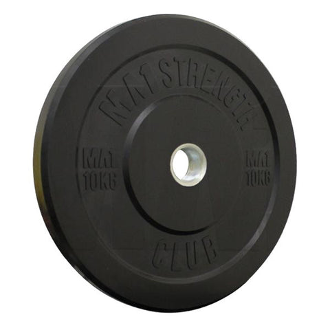 MA1 Club Bumper Plates Black 10kg (Pair) - Manic Fitness - 1