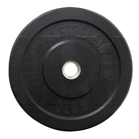 MA1 Club Bumper Plates Black 15kg (Pair) - Manic Fitness