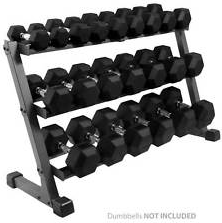 3 Tier Hex Dumbbell Rack - Manic Fitness