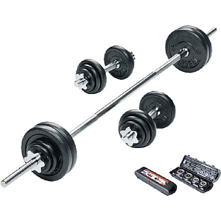 Bodyworx 50kg Barbell and Dumbell Kit - Manic Fitness