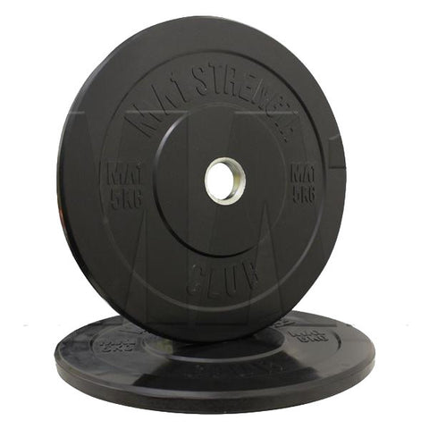MA1 Club Bumper Plates Black 5kg (Pair) - Manic Fitness