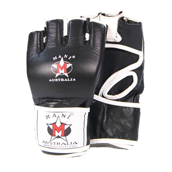 Mani MMA Leather Grappling Gloves - Manic Fitness