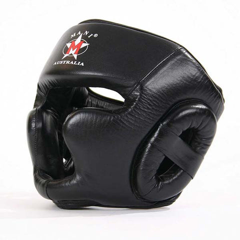 Mani Leather Full Face Pre-Moulded Head Guard - Manic Fitness