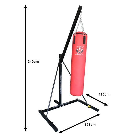 Dimensions - Mani Single Boxing Bag Stand - Manic Fitness