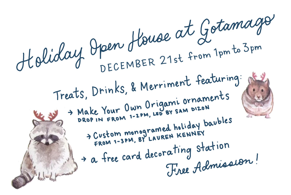 Holiday Open House at Gotamago Poster