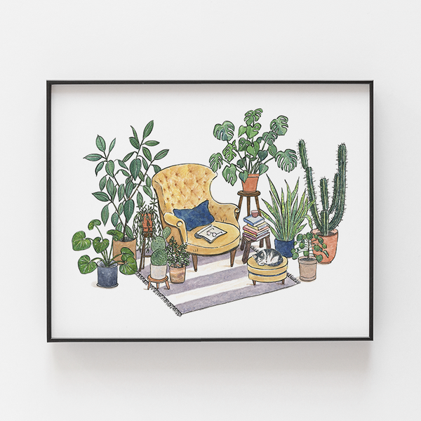Reading Nook Archival Print