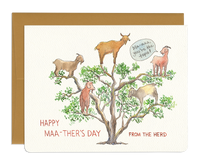 You're the Tops - Funny Goat Mother's Day Card
