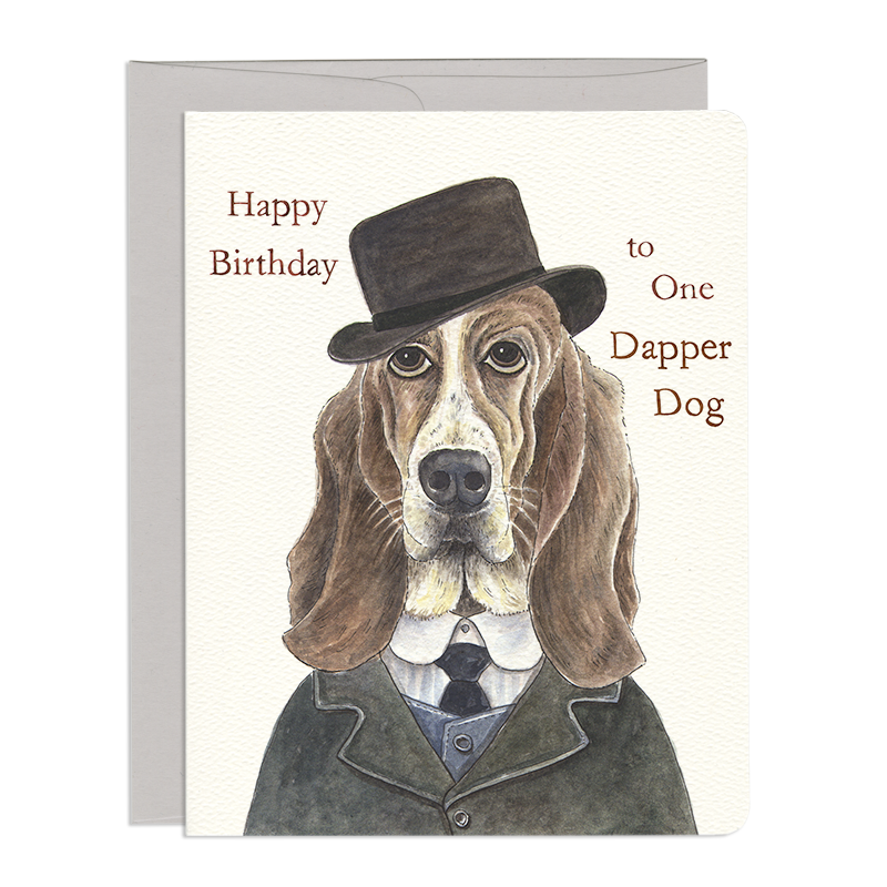 Dapper Dog Birthday Card Gotamago Inc