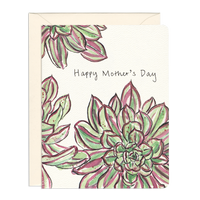 Succulent Mom - Mother's Day Plant Greeting Card
