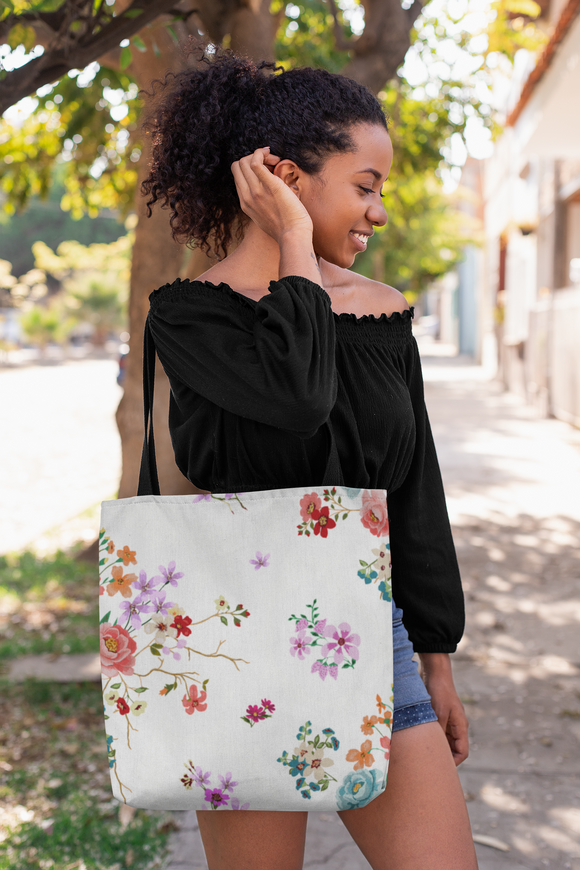 Light Floral Tote Bag