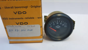 350-271-002-040 Drukmeter 0-25bar diameter: 52 mm - Operating voltage: 12 Volt